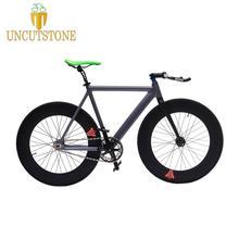 Fixed Gear Bike 54cm fame 90mm rim single speed bike Smooth Welding frame DIY Aluminum alloy Customize Track Bicycle 700C wheel