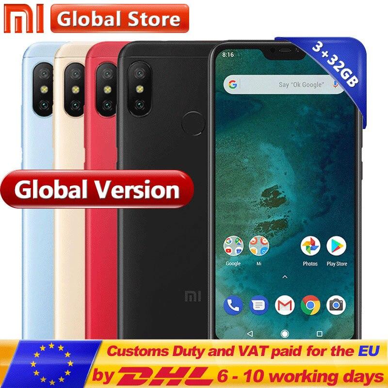Global Version Xiaomi A2 Lite Telephone 3GB 32GB Snapdragon 625 Octa Core Smartphoe 5.84