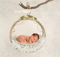 Baby Photography Props Iron Hanging Basket Box Decoration Fotografia Accessories Infantil Toddler Studio Shooting Photo Props