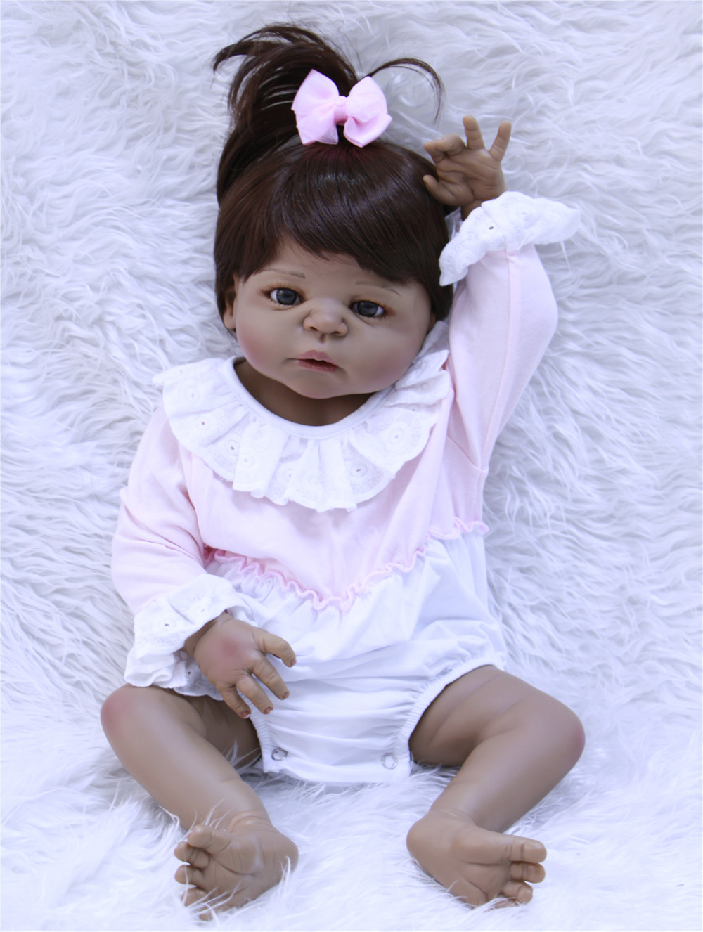 57cm full Silicone Reborn Baby Doll kids Playmate Gift For Girls 23 Inch Baby Alive Soft Toys For Bouquets Doll Bebes Reborn57cm full Silicone Reborn Baby Doll kids Playmate Gift For Girls 23 Inch Baby Alive Soft Toys For Bouquets Doll Bebes Reborn