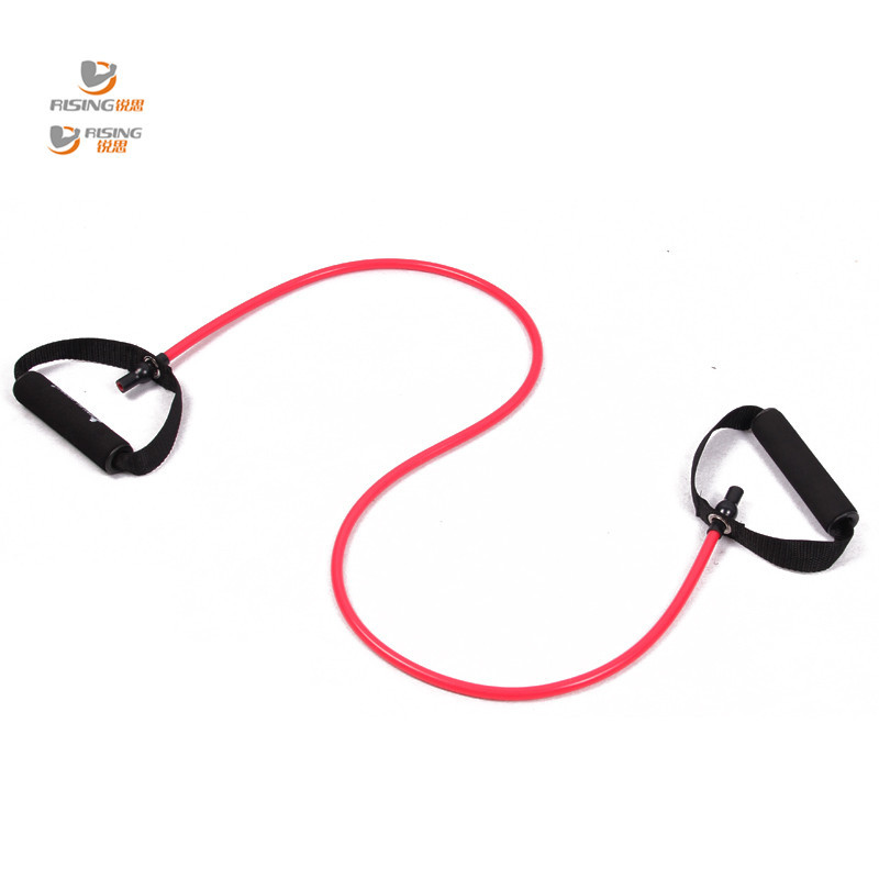 resistance exercise band tubes stretch yoga band font b fitness b font workout pilates red for
