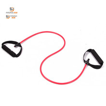 resistance exercise band tubes stretch yoga band fitness workout pilates red for wholesale and free shipping