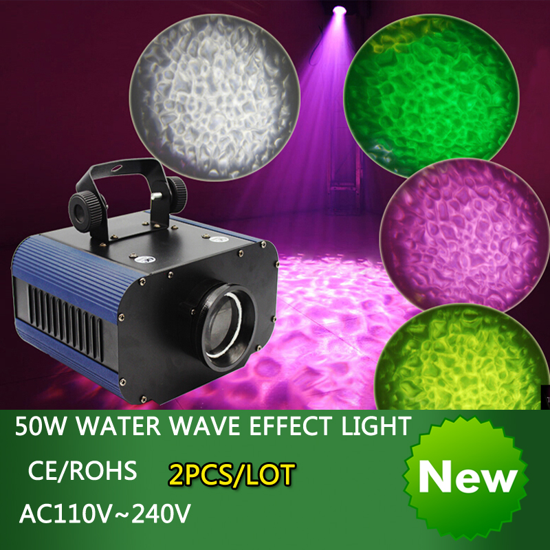 2016 new arrive 50W LED 4 color water wave effect light disco dj Christmas party rainbow background lighting projector