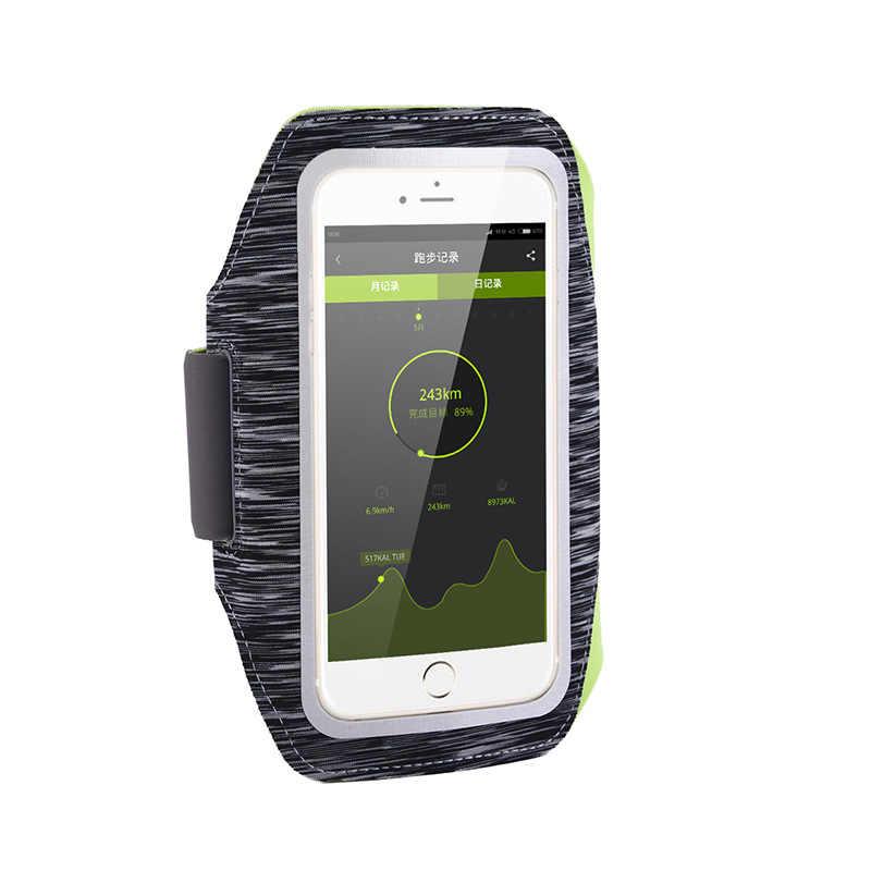 Course à pied randonnée Sport téléphone portable étui de brassard pour 5.5 pouces iPhone 7 7 plus 6 6s plus bras bande Mobile support pour téléphone à portée de main