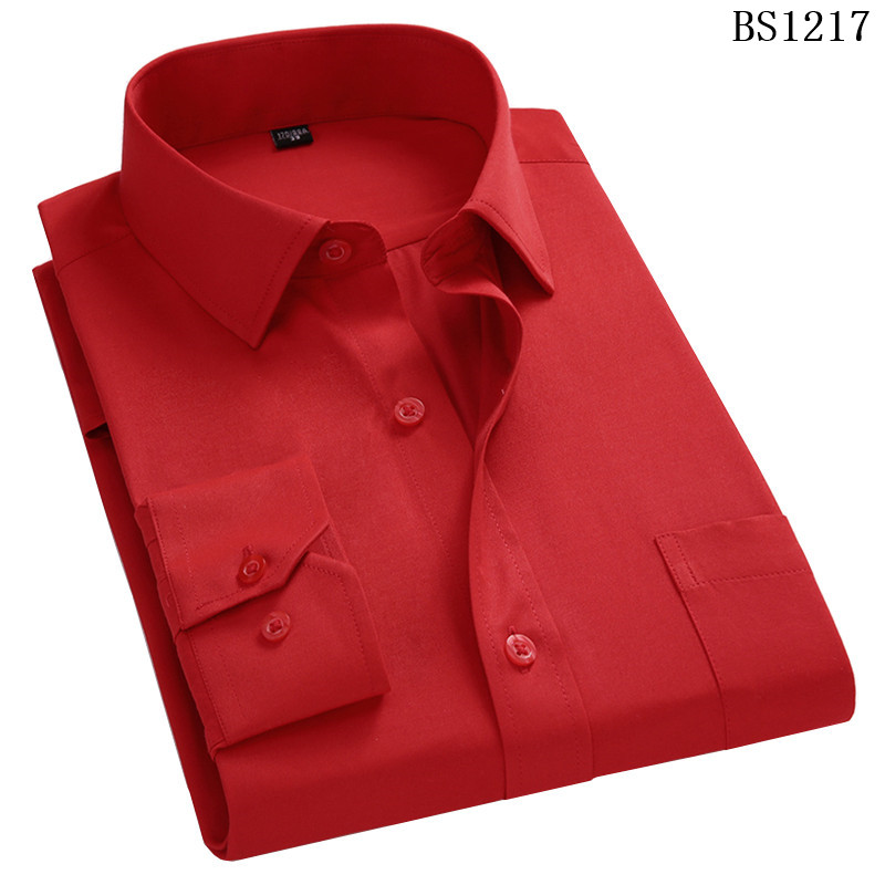 HTB1FfJLWirpK1RjSZFhq6xSdXXaN - Plus Large Size 8XL 7XL 6XL 5XL 4XL Mens Business Casual Long Sleeved Shirt