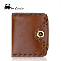 DERI CUZDAN 100 Genuine Leather Retro Men Wallets High Quality Brand Hasp Design Male Wallet Card