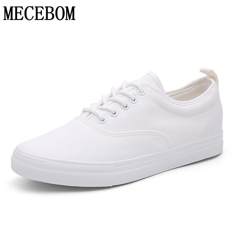 Hot Sale Men's Canvas Shoes Fashion Autumn Black White Men Casual Shoes Lace-up Breathable Men Sneakers size 39-44 a573m фитнес браслет huawei band 2 pro красный