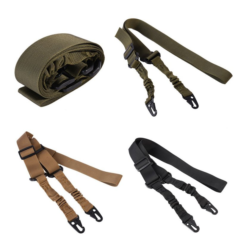 Two Points Nylon Multi-funktion Justerbar Tactical Rifle Sling Airsoft Hunting Gun Strap Outdoor Bungee KitNew Arrival