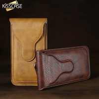 5 5 Universal Mini Leather Waist Bag Men For IPhone 7 7 Plus 6 6s Plus