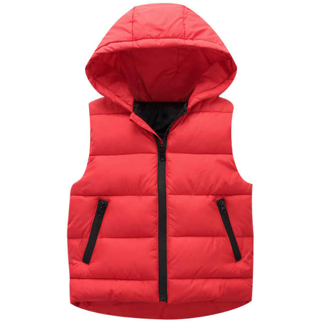 Chalecos niños sudaderas con capucha chaqueta caliente niñas abrigos niños chaleco chaquetas con capucha niños Otoño Invierno grueso chalecos