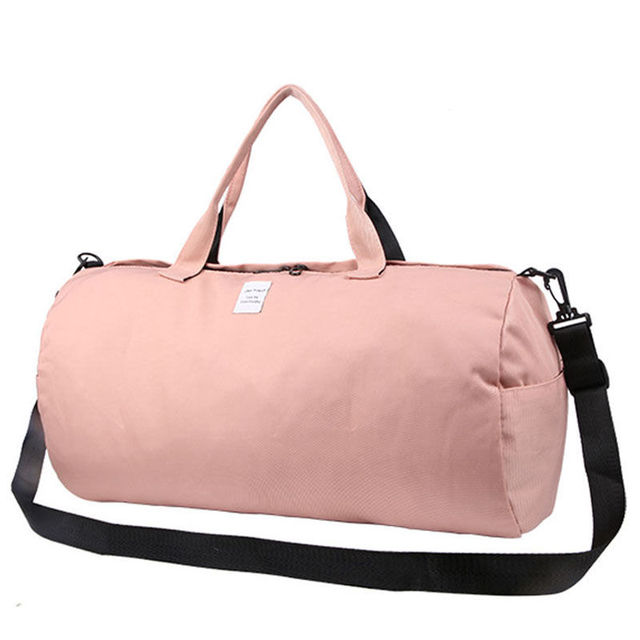 2018 Top Female Sports Nylon Gym Bags Lady s Fitness Yoga Bag Handbags for  Women Over the 255ee924bc662
