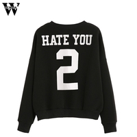 WOMAIL Good Deal 2017 New Hoodies Winter Warm Hoodie Sweatshirt Women long Sleeve Blouse Letter Print Sweatshirt Pullovers#A30