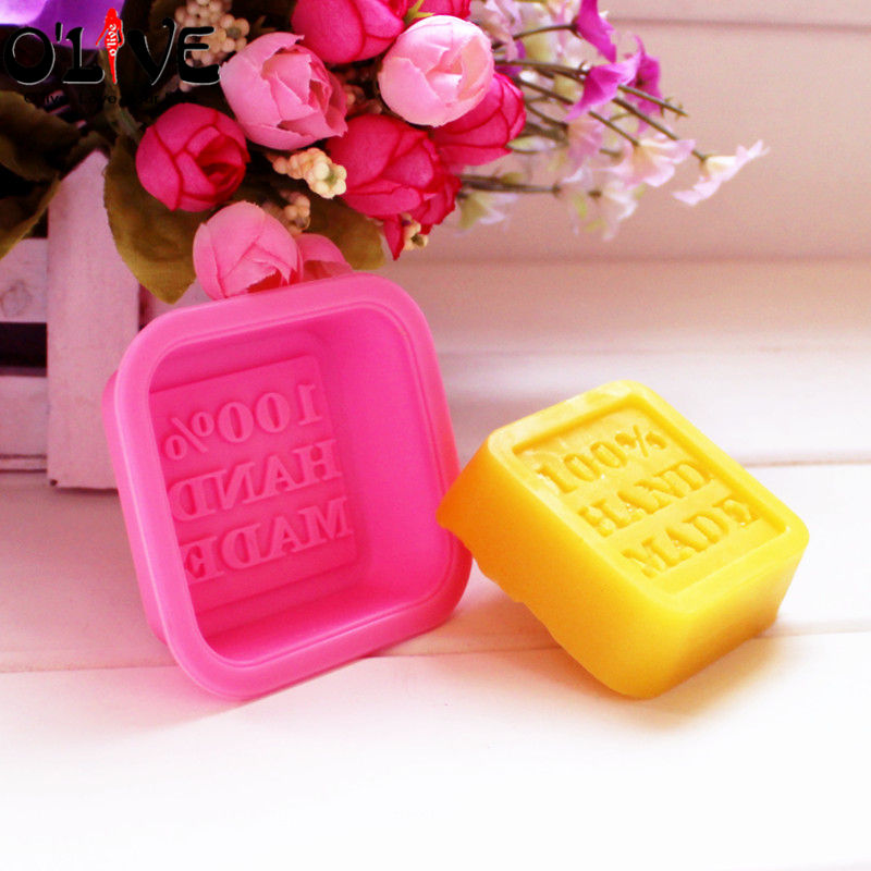 3D Silicone Mold Square 100% Hand Made Soap Molds Cake Decorating Tools Fondant Chocolate Forms DIY Soap Making Tools