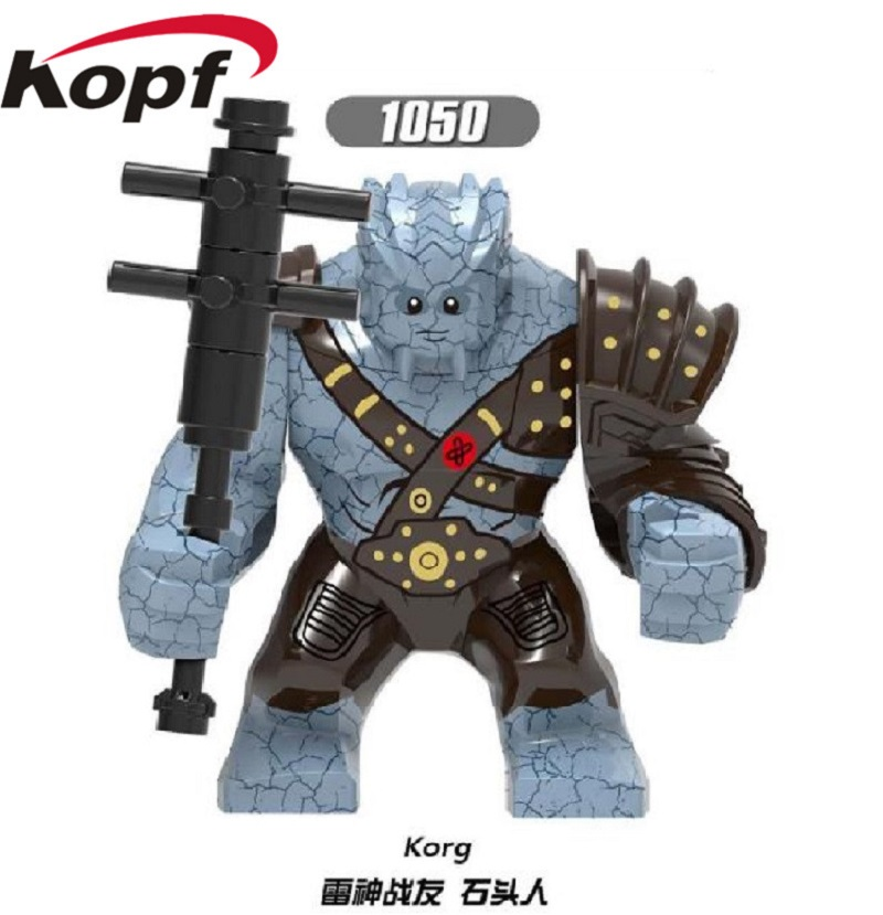 Single Sale Building Blocks Avengers 4 End Game Space Korg Iron Man Hulk Action Figures For Children Model Gift Toys XH 1050 image