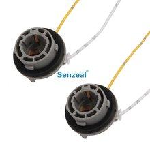 Diy-Installation Sockets-Adapter Copper-Wire 1156-150-Degree Bau15s/py21w-Bulbs ABS 2pcs