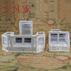 Poppenhuis 1/12e Schaal Miniatuur meubels handgeschilderde Winkel vitrinekast set