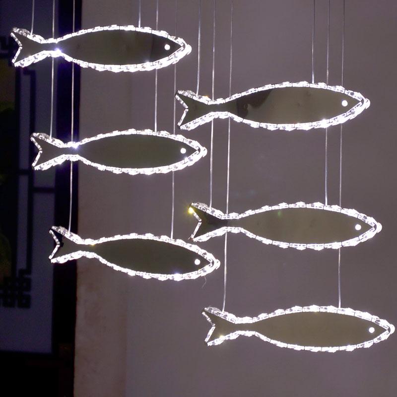 Restaurant Simple Annual Fish Lamp Nordic bedroom shopcase LED fish pendant lamps Modern Creative suspension Light Lampada nber macroeconomics annual 2000