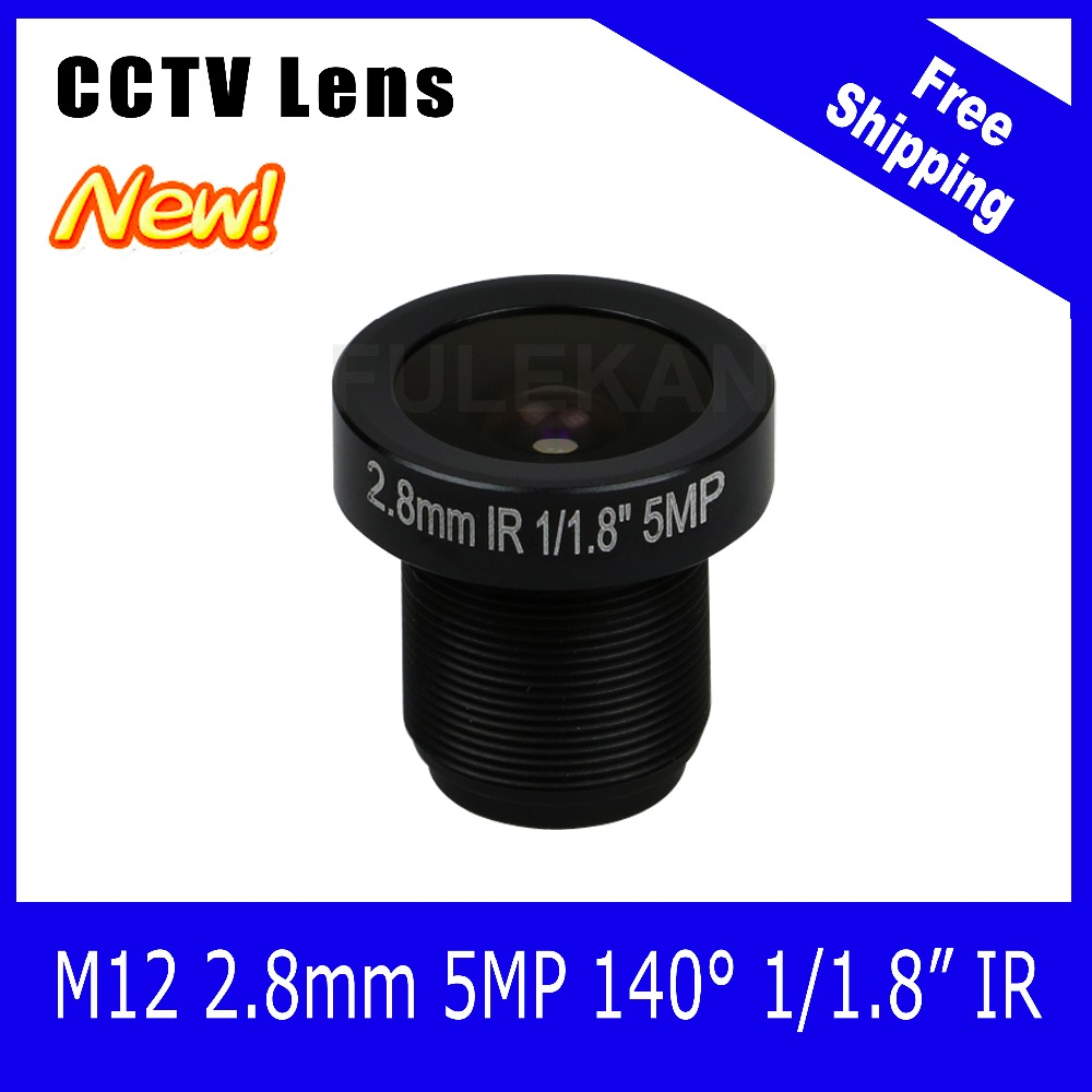 5Megapixel Fixed 1/1.8 inch 140 Wide angle Lens 2.8mm For 3MP/5MP IP camera  CCTV Camera Free Shipping starlight lens 3mp 4mm fixed aperture f1 5 for sony imx290 imx291 ip camera free shipping