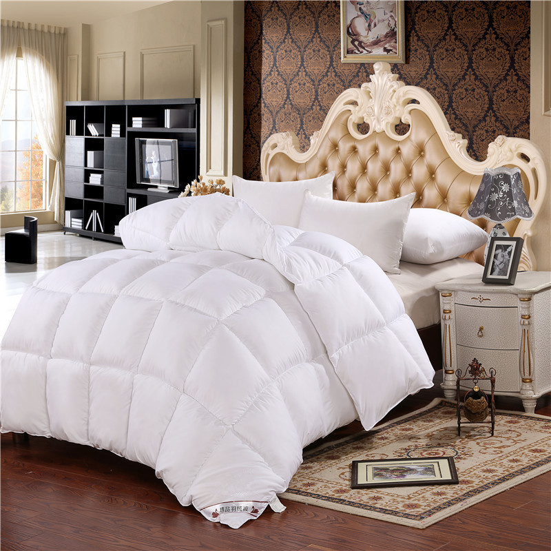 New Fashion Luxury DesignTop Quality White Goose Down Filler/Inner Quit King Size Thickening And ...
