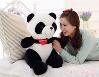 red heart love panda plush toy, about 50cm panda pillow birthday gift h776