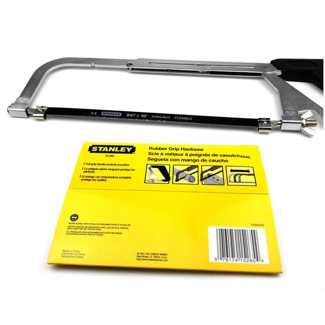 Stanley 1pc adjustable hacksaw frame w/ 10 5