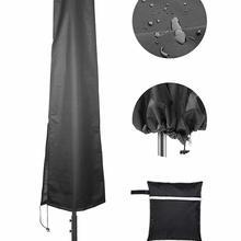 Садовый зонтик, чехлы для патио, чехол для зонта, антивозрастной пылезащитный павильон, пляжный чехол, прочная уличная мебель, защита патио