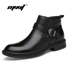 418de5b5c7c411 Full Grain leder Männer Stiefel Warme Pelz Plus Größe Männer Winter Schuhe  Handgemachte Russische Stil Schnee Stiefel Dropshippi.