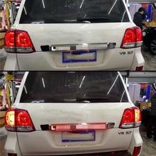 LUHUEZU 2008-2015 tapa de maletero trasero con luz Led cubierta de estilo para Land Cruiser 200 accesorios LC200