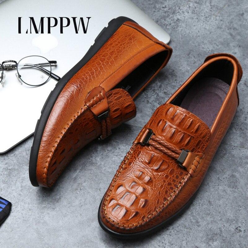 Hecho De A Zapatos Cuero marrón Comodidad vino Negocios Tinto Diseño Hombres Genuino Hombre Marca Negro Los La Moda Mano Lujo Mocasines Casuales rgr0EAdqw