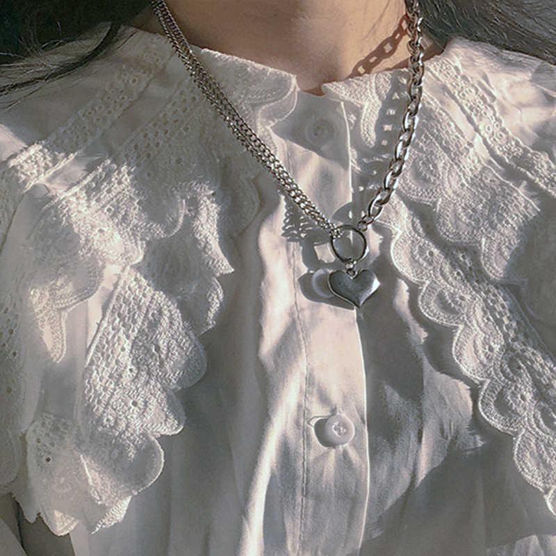Łańcuch w stylu hip-hop mężczyźni kobiety para naszyjniki naszyjnik wodoodporne mężczyźni Link Curb naszyjnik łańcuszkowy hip hop biżuteria ze stali nierdzewnej stalowy łańcuch