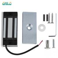 12 v 60kg fechadura magnética elétrica eletrônica fail safe dc em trava força de retenção eletromagnética mini m60 para o acesso da entrada da porta|Trava elétrica| |  -