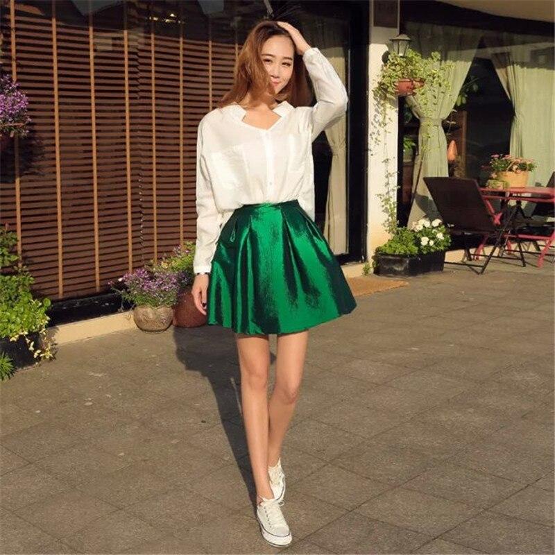 Popular New 2015 Fashion Women High Waist Organza Tutu Mini Skirt A Line