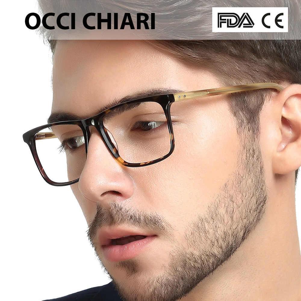 05e2db2cdb OCCI CHIARI Men Glasses Frame Optical 2018 Vintage Men Clear Lens  Prescription Spectacles Acetate Eyewear Eyeglasses W-COLOPI