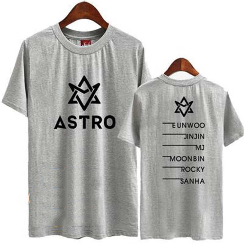 Mainlead KPOP ASTRO T-shirt Unisex Summer Vibes Tshirt TEE EUNWOO MJ  MOONBIN Tops Cotton