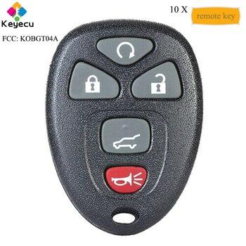KEYECU 10PCS Remote Car Key With 5 Buttons - FOB for Pontiac G5 G6 Grand Prix/ Buick Lacrosse/ Chevrolet Cobalt Malibu, KOBGT04A