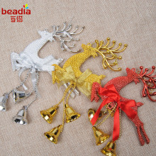 14x20cm Christmas Decorations Christmas Ornaments Three Colored Deer Bells Little Deer Christmas Bells(China)