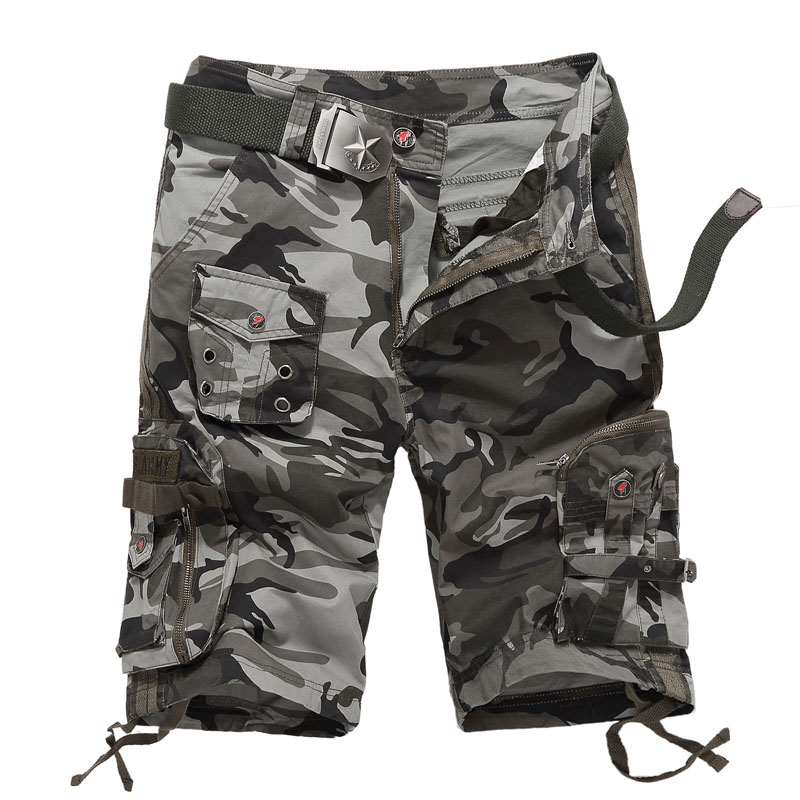 Mens Summer Camo Multi-pocket Outdoor Climbing Cargo Short Trousers Sports Hiking Running Tactical Shorts Men Military Bermudes