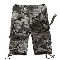 Verano para hombre CAMO multi-bolsillo al aire libre escalada cargo corto Pantalones deportes senderismo Correr táctico Pantalones cortos hombres Militar bermudes