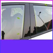 Lsrtw2017 PVC Car Window Middle Pillar Sticker for Hyundai Encino Kona 2018  2019 2020