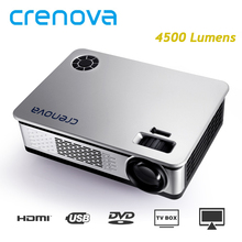 CRENOVA Video Projector For Home Theater Movie Beamer Support 1920*1080p with AV VGA HDMI USB SD AUDIO 4500 Lumens Proyector