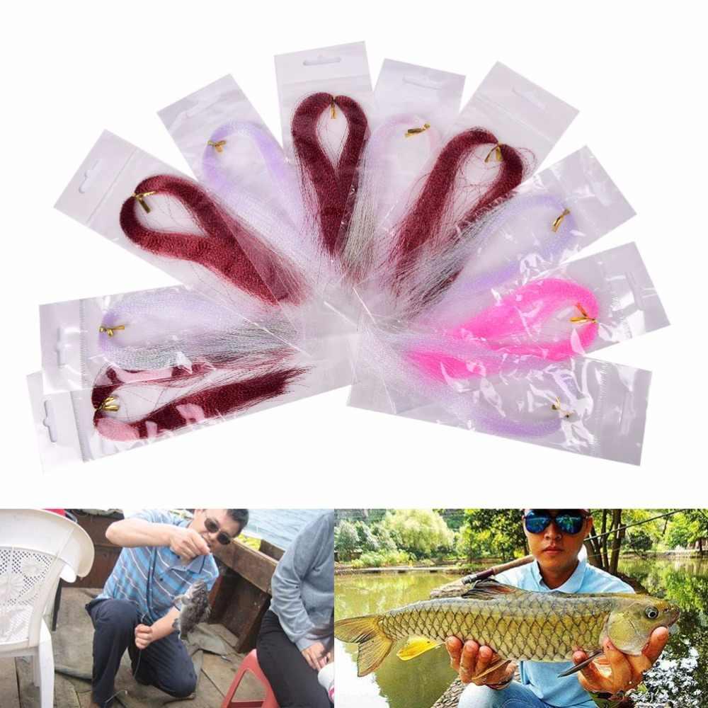 1 حقيبة يطير الصيد الكريستال فلاش خيط صنارة الصيد يطير الصيد ربط المواد موضوع مختلط اللون