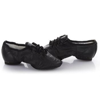 Leather Teachers Dancing Shoes For Men Women Soft Bottom Square Heel Female Shoes National Dance Belly Dance Yoga Ballet Shoes
