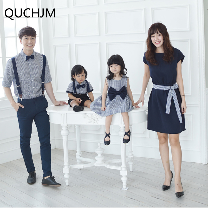Daughter Dress Matching-Clothes Family Boys Kids Summer Evening-Suit Evening-Suit