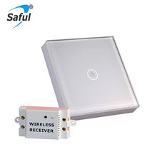 Free Shipping White/Black 12V Touch Switch Interruptor 1 Gang 1 Way Crystal Glass Panel Smart Light Switch Wall Switches