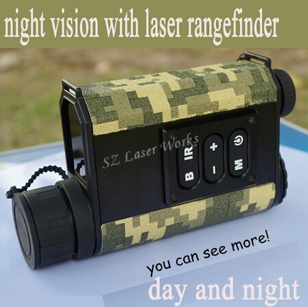 Cheap 6X32 digital monocular infrared day and night vision goggles with rangefinder and compass Night Vision telescope for hunting