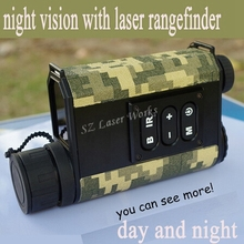 Cheapest prices 6X32 digital monocular infrared day and night vision goggles with rangefinder and compass Night Vision telescope for hunting