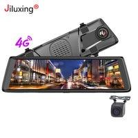 4 г 10 Автомобильные dvrs 1080 p Автомобильная камера Android зеркало gps навигация wifi ADAS Bluetooth видео рекордер Dash Cam двойной объектив заднего вида