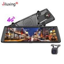 4 г 10 «Автомобильные видеорегистраторы 1080 P камеры автомобиля Android зеркало gps навигации WI-FI ADAS Bluetooth видео Регистраторы тире cam Двойной объектив заднего вида
