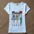 2016 Marca de Moda T Shirt Mulheres Rose Impresso Impresso T-shirt mulheres Encabeça Camiseta Femme New Arrivals Hot Sale Casual Sakura