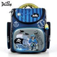 Delune العلامة التجارية الأطفال العظام حقيبة مدرسية للأولاد فتاة للماء أضعاف الابتدائية حقيبة المدرسة إيفا Mochila Infantil الصف 1-3